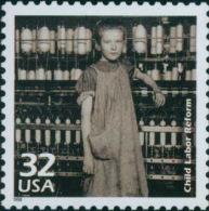 USA 1998 Celebrate The Century 1910's Stamp Child Labor Reform Sc#31830 History Factory Textile - Textile