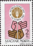 Ungarn 3509A (kompl.Ausg.) Postfrisch 1981 Welternährungstag - Ungebraucht