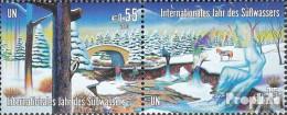 UNO - Wien 393-394 Paar (kompl.Ausg.) Postfrisch 2003 Int. Jahr Des Süßwassers - Wien - Internationales Zentrum