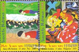 UNO - Wien 428-429 (kompl.Ausg.) Postfrisch 2004 Weltfriedenstag - Wien - Internationales Zentrum