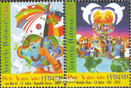 UNO - Wien 451-452 (kompl.Ausg.) Postfrisch 2005 Weltfriedenstag - Wien - Internationales Zentrum