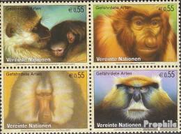 UNO - Wien 485-488 Viererblock (kompl.Ausg.) Postfrisch 2007 Primaten - Wien - Internationales Zentrum
