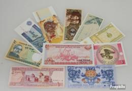 Asien 10 Verschiedene Banknoten  Aus Asien - Bankbiljetten