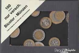 Alle Welt 100 Gramm Münzkiloware  Nur Verschiedene Bicolormünzen - Kilowaar - Munten