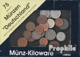 Deutschland 75 Gramm Münzkiloware  Mit BRD, DDR Und Deutschem Reich - Munten & Bankbiljetten