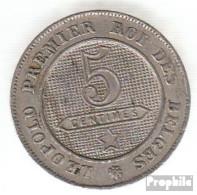 Belgien KM-Nr. : 21 1861 Sehr Schön Kupfer-Nickel Sehr Schön 1861 5 Centimes Löwe Im Kreis - 1831-1865: Léopold I.