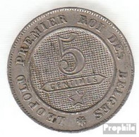 Belgien KM-Nr. : 21 1863 Sehr Schön Kupfer-Nickel Sehr Schön 1863 5 Centimes Löwe Im Kreis - 1831-1865: Léopold I.