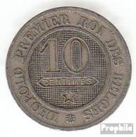 Belgien KM-Nr. : 22 1861 Sehr Schön Kupfer-Nickel Sehr Schön 1861 10 Centimes Löwe Im Kreis - 1831-1865: Léopold I