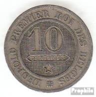 Belgien KM-Nr. : 22 1862 Vorzüglich Kupfer-Nickel Vorzüglich 1862 10 Centimes Löwe Im Kreis - 1831-1865: Léopold I
