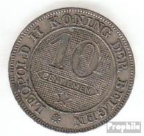 Belgien KM-Nr. : 43 1895 Sehr Schön Kupfer-Nickel Sehr Schön 1895 10 Centimes Löwe Im Kreis - 1865-1909: Leopold II