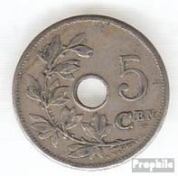 Belgien KM-Nr. : 55 1906 Sehr Schön Kupfer-Nickel Sehr Schön 1906 5 Centimes Gekröntes Monogramm - 1865-1909: Leopold II