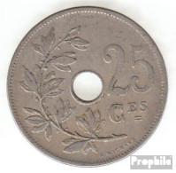 Belgien KM-Nr. : 62 1908 Sehr Schön Kupfer-Nickel Sehr Schön 1908 25 Centimes Gekröntes Monogramm - 05. 25 Centimes