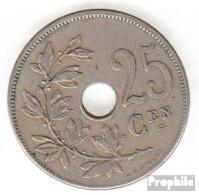 Belgien KM-Nr. : 63 1908 Sehr Schön Kupfer-Nickel Sehr Schön 1908 25 Centimes Gekröntes Monogramm - 05. 25 Centimes