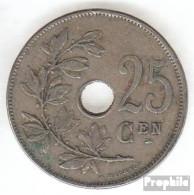 Belgien KM-Nr. : 69 1910 Sehr Schön Kupfer-Nickel Sehr Schön 1910 25 Centimes Gekröntes Monogramm - 05. 25 Centimes