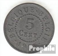 Belgien KM-Nr. : 80 1915 Sehr Schön Zink Sehr Schön 1915 5 Centimes Deutsche Besetzung I. We - 03. 5 Centimes