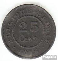 Belgien KM-Nr. : 82 1915 Sehr Schön Zink Sehr Schön 1915 25 Centimes Deutsche Besetzung I. W - 1909-1934: Albert I.