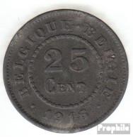 Belgien KM-Nr. : 82 1916 Vorzüglich Zink Vorzüglich 1916 25 Centimes Deutsche Besetzung I. W - 1909-1934: Albert I.