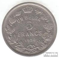 Belgien KM-Nr. : 97 1930 Sehr Schön Nickel Sehr Schön 1930 5 Francs Albert - 1909-1934: Albert I.