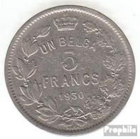 Belgien KM-Nr. : 97 1931 Sehr Schön Nickel Sehr Schön 1931 5 Francs Albert - 1909-1934: Albert I.