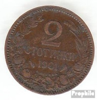 Bulgarien KM-Nr. : 23 1901 Sehr Schön Bronze Sehr Schön 1901 2 Stotinki Wappen - Bulgarien