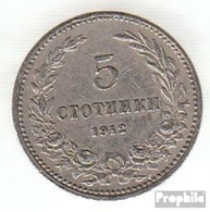 Bulgarien KM-Nr. : 24 1913 Sehr Schön Kupfer-Nickel Sehr Schön 1913 5 Stotinki Wappen - Bulgarien
