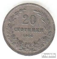 Bulgarien KM-Nr. : 26 1906 Sehr Schön Kupfer-Nickel Sehr Schön 1906 20 Stotinki Wappen - Bulgarien