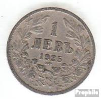 Bulgarien KM-Nr. : 37 1925 Sehr Schön Kupfer-Nickel Sehr Schön 1925 1 Lev Wappen - Bulgarije