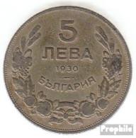 Bulgarien KM-Nr. : 39 1930 Sehr Schön Kupfer-Nickel Sehr Schön 1930 5 Leva Reiter - Bulgarien