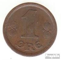 Dänemark KM-Nr. : 812 1917 Sehr Schön Bronze Sehr Schön 1917 1 Öre Gekröntes Monogramm - Dänemark
