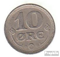 Dänemark KM-Nr. : 818 1922 Vorzüglich Kupfer-Nickel Vorzüglich 1922 10 Öre Gekröntes Monogramm - Dänemark
