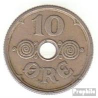 Dänemark KM-Nr. : 822 1925 Sehr Schön Kupfer-Nickel Sehr Schön 1925 10 Öre Gekröntes Monogramm - Dänemark