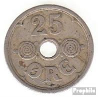 Dänemark KM-Nr. : 823 1924 Vorzüglich Kupfer-Nickel Vorzüglich 1924 25 Öre Gekröntes Monogramm - Denemarken