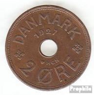 Dänemark KM-Nr. : 827 1927 HCN Sehr Schön Bronze Sehr Schön 1927 2 Öre Gekröntes Monogramm - Dänemark