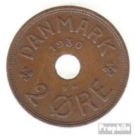 Dänemark KM-Nr. : 827 1929 Sehr Schön Bronze Sehr Schön 1929 2 Öre Gekröntes Monogramm - Dänemark