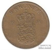 Dänemark KM-Nr. : 838 1948 Vorzüglich Aluminium-Bronze Vorzüglich 1948 2 Kroner Frederik IX. - Dänemark