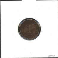 Deutsches Reich Jägernr: 10 1901 A Sehr Schön Bronze Sehr Schön 1901 1 Pfennig Großer Reichsadler - 1 Pfennig