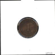 Deutsches Reich Jägernr: 10 1908 J Vorzüglich Bronze Vorzüglich 1908 1 Pfennig Großer Reichsadler - 1 Pfennig