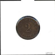 Deutsches Reich Jägernr: 11 1906 J Sehr Schön Bronze Sehr Schön 1906 2 Pfennig Großer Reichsadler - [ 2] 1871-1918: Deutsches Kaiserreich