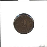 Deutsches Reich Jägernr: 11 1907 A Sehr Schön Bronze Sehr Schön 1907 2 Pfennig Großer Reichsadler - [ 2] 1871-1918: Deutsches Kaiserreich