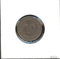 Deutsches Reich Jägernr: 13 1909 E Vorzüglich Kupfer-Nickel Vorzüglich 1909 10 Pfennig Großer Reichsadler - 10 Pfennig