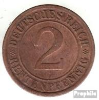 Deutsches Reich Jägernr: 307 1923 A Vorzüglich Bronze Vorzüglich 1923 2 Rentenpfennig Ährengarbe - [ 3] 1918-1933 : Weimar Republic