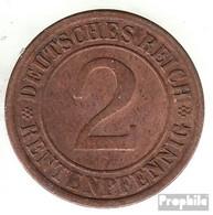 Deutsches Reich Jägernr: 307 1923 D Sehr Schön Bronze Sehr Schön 1923 2 Rentenpfennig Ährengarbe - [ 3] 1918-1933 : Weimar Republic