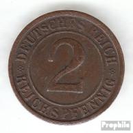 Deutsches Reich Jägernr: 314 1924 F Vorzüglich Bronze Vorzüglich 1924 2 Reichspfennig Ährengarbe - [ 3] 1918-1933 : Weimar Republic
