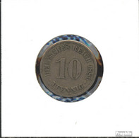 Deutsches Reich Jägernr: 4 1875 A Schön Kupfer-Nickel Schön 1875 10 Pfennig Kleiner Reichsadler - 10 Pfennig