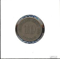 Deutsches Reich Jägernr: 4 1876 B Schön Kupfer-Nickel Schön 1876 10 Pfennig Kleiner Reichsadler - 10 Pfennig