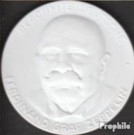 Deutschland Berühmte Deutsche - Ferdinand Graf Zeppelin Vorzüglich Vorzüglich Porzellanmedaille Meissen - Münzen & Banknoten