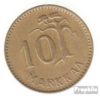 Finnland KM-Nr. : 38 1953 Sehr Schön Aluminium-Bronze Sehr Schön 1953 10 Markkaa Löwe Im Kreis - Finnland