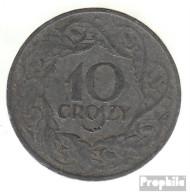 Generalgouvernement Jägernr: 625 1923 Sehr Schön Zink Sehr Schön 1923 10 Groszy Wappenadler - Münzen & Banknoten