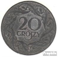 Generalgouvernement Jägernr: 626 1923 Sehr Schön Zink Sehr Schön 1923 20 Groszy Wappenadler - Münzen & Banknoten
