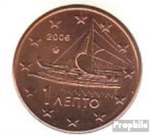 Griechenland GR 1 2006 Stgl./unzirkuliert Stgl./unzirkuliert 2006 Kursmünze 1 Cent - Grèce